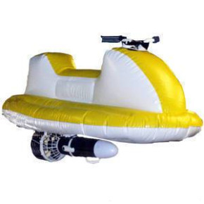 Inflatable jet ski with electric motor