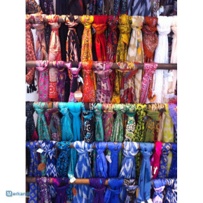 Various scarves with different colors and designs