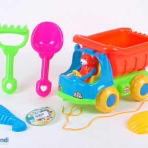Ocean sand beach toy truck design with accessories