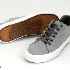 TOMMY HILFIGER MENS SHOES - GRAY