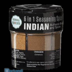 SASSY SPICE INDIAN 6 IN 1 SEASONING SPICE MIX