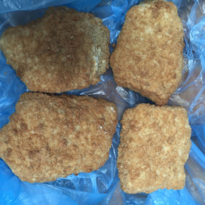 Frozen cod loins - breaded fish at a low price