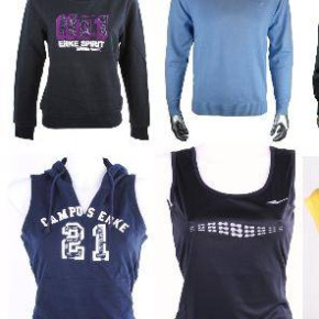 ERKE men and women sportclothing ends of line
