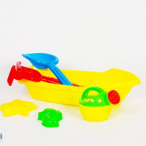 Plastic Boat with Beach Accessories Sand toys