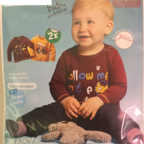 Baby long sleeve shirts in 2-pack 100% cotton 1,10 EUR