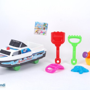 BEACH TOY BOAT  WITH ACCESORIES  ITEM NUMBER 757