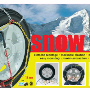 Snow chains, various types and sizes