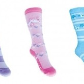 Knee-highs in mix of colours foot length for girls 14-16cm.