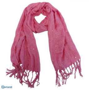 Pink scarves with lurex and sequins