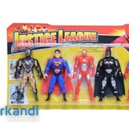 Set of five super fighter justice league heroes