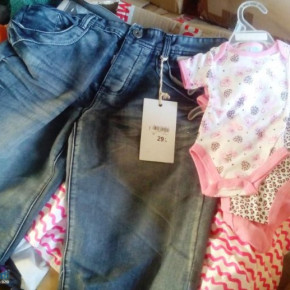 Mixed wholesale clothing for children and adults