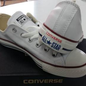CONVERSE ALL STAR MENS LEATHER SHOES - WHITE