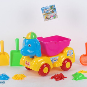 Ocean sand beach toy truck dog and pig design with accessories