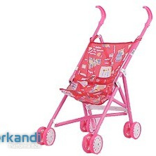 METAL BABY STROLLER  FOLDABLE IN PP BAG WITH HEADER
