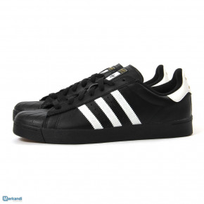ADIDAS SUPERSTAR MENS LEATHER SHOES BLACK