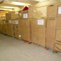 Mixed pallets of decoration products, bathware, toys