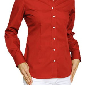 Red womens blouses with buttons