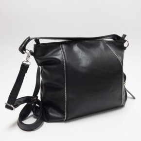 Black handbags with zippers on front side