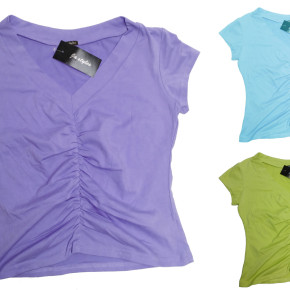 Women's t-shirts with wrinkled front side