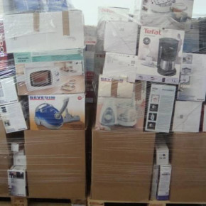 Mixed pallets with Tefal , Bosch, Krups, Severin, Philips minor appliances