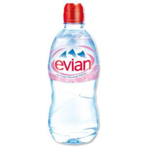 Evian mineral water 500ml and 750ml