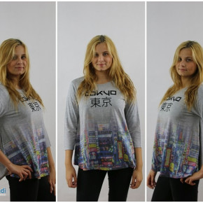 Blouse for women with print Tokyo