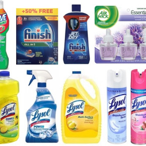 Pallets of Lysol & Airwick cleaning products
