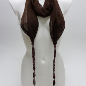 Braided scarves with beads