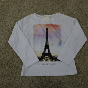 Blouse for girls with glitter