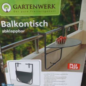 Balcony folding table of Gartenwerk