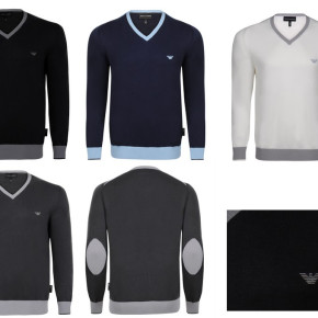 ARMANI MEN JUMPER V NECK