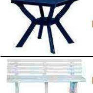 Garden furniture and other accessories