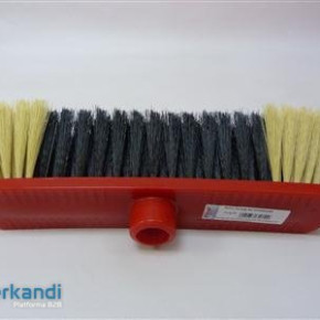 Broom varnished synthetic red, plastic synthetic, Several