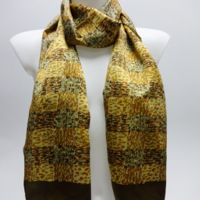 Yellow scarves with allover print