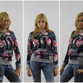 Sweatshirt Ladies Flower