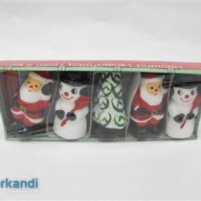 Candle christmas figurines 8cm piece of 5