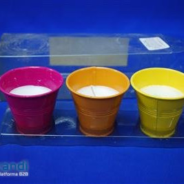 Candle set piece of 3 citronella