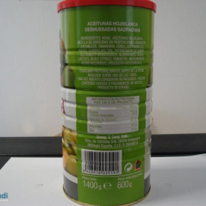 Canned olives with vegetables 1400g