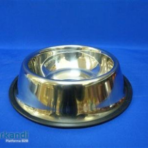 Cat bowl chrome 14, 8 cm