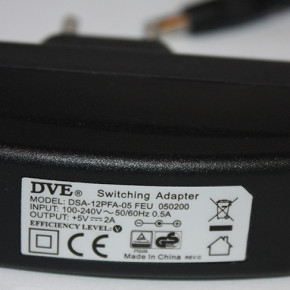 POWER PACK POWER ADAPTER 5V 2A 5.5/1.7 DC DVE