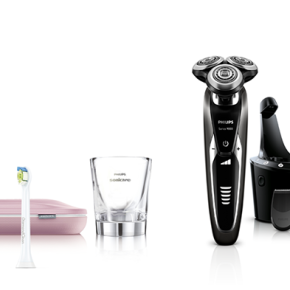 Mix of Philips toothbrushes and shavers