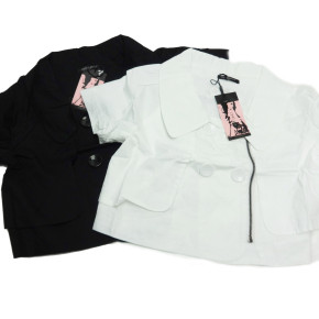 Black and white bolero blazers