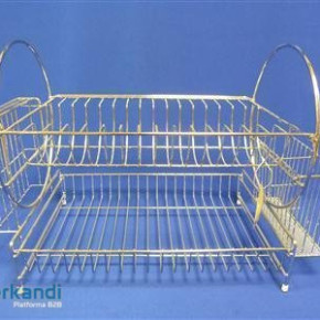 Chrome cutlery dryer standing