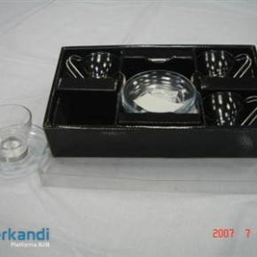 Coffee Service piece of 4 glass