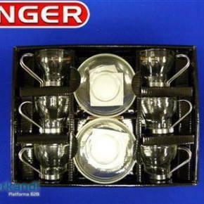 Coffee set piece of 6 glass