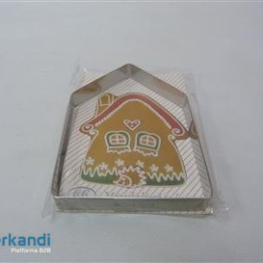 Cookie form metal walnut 20 in pack, little house, shell