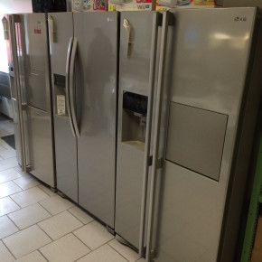 6x LG USA Style Fridges - all tested and ok
