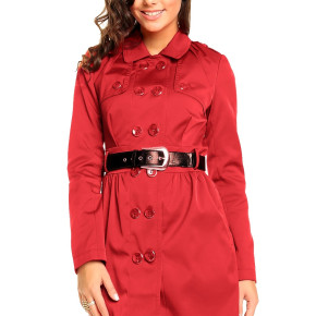 Dark blue and red trenchcoat jackets
