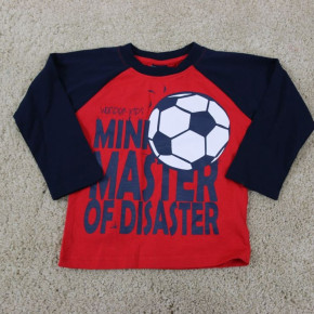 Blouse for boy with football print