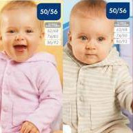 Velour jackets for babies